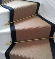 Jute Stair Runner with Black Border