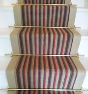 Jute Runner with Multicolored Stripes
