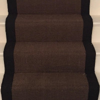 ... Chocolate Sisal Stair Runner (Size 7.5m X 0.65m Suitable For Up To 15  Stairs) High Luster Rich Tone Reminiscent Of A Quality London Boutique  Hotel ...
