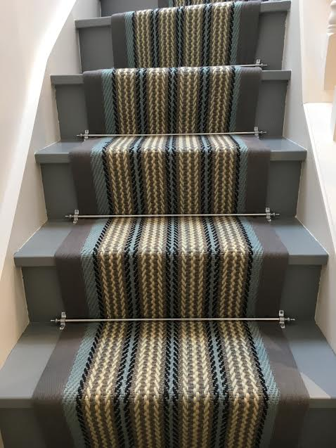 Sisal Beige Border Seaspray Stair Runner ...