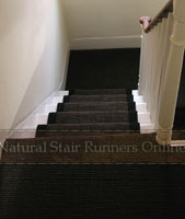 Chocolate Brown Sisal Stair Runner with black border