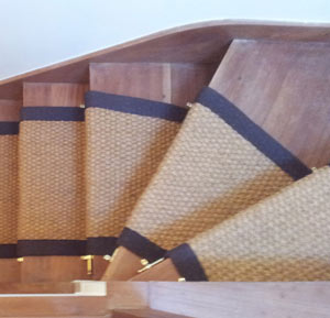 Coir Carpet - Winding Stairs